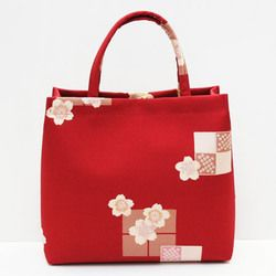 おでかけバッグ3 アミアートバッグ[赤桜]
