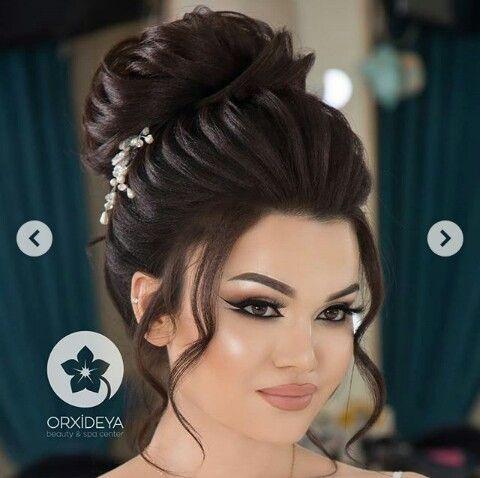 Pin By Aystar On Gelin Sac Makyaj Bridal Hair Buns Wedding Hair And Makeup Hair Styles