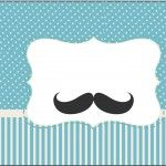 Rótulo Tubetes Chá de Bebê Mustache