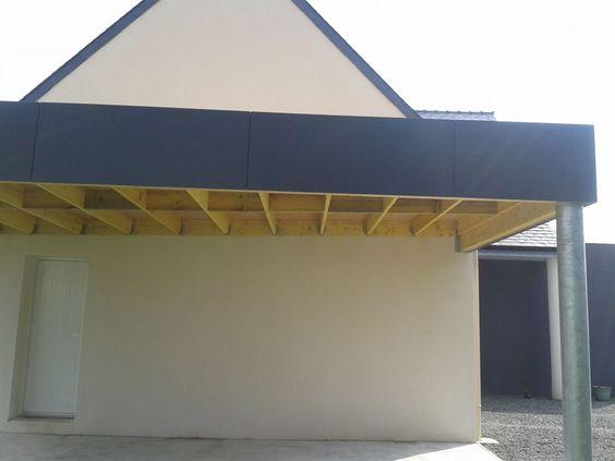 carport avec poteau acier galvanis acrot re en panneau composite et toiture membrane pvc. Black Bedroom Furniture Sets. Home Design Ideas