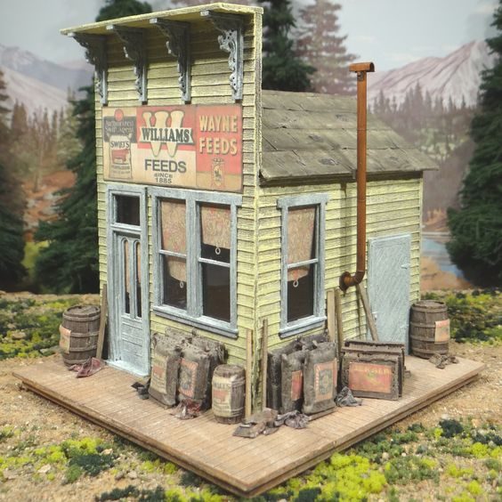 O Scale On30 On3 Williams Feed & Seed Store