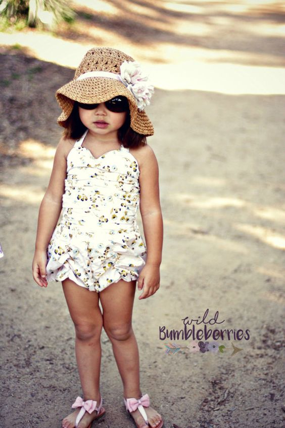 Ruchie Romper Girls Dress Pattern Easy Dress von littlelizardking