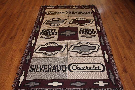 "Chevrolet Throw Blanket 45""x70"" Silverado Chevy Trucks ..."