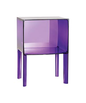 Jewel Tone Furniture: Ghost Buster side table by Philippe Starck for Kartell, $413