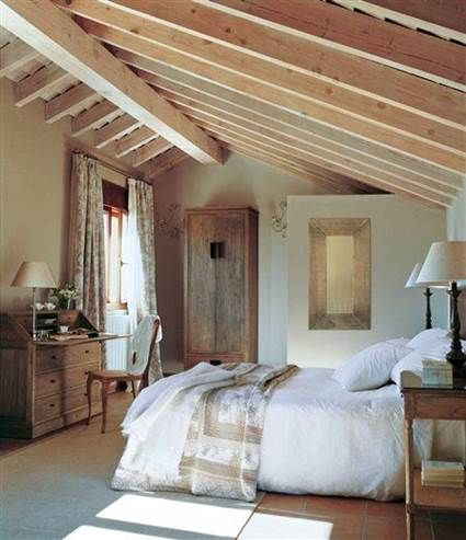 Habitaciones matrimoniales abuhardilladas ba os en - Habitaciones en buhardillas ...