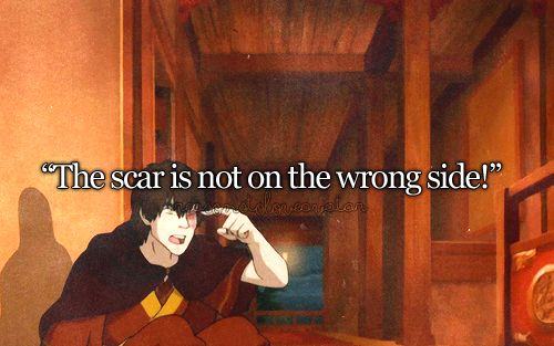 Your Zuko costume is pretty good, but the scar is on the wrong side. --- bahaha