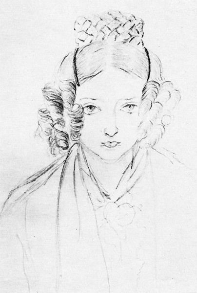 Queen Victoria self portrait