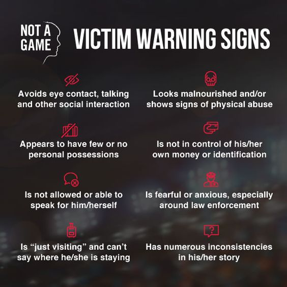 victim warning sign