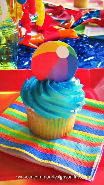 Cutest Summer party idea!  Beach Ball Party for Kids... great for classrooms, pool parties and more!  www.uncommondesignsonline.com #partyplanning #partyideas