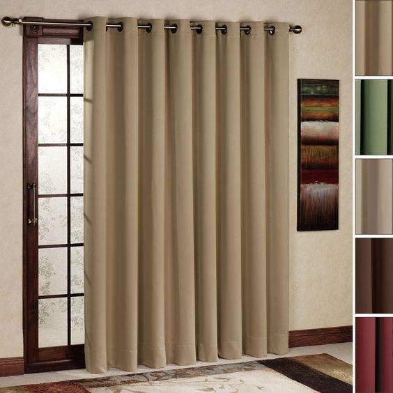 Curtain Rod Size for Sliding Glass Door | Curtain Rods | Pinterest ...