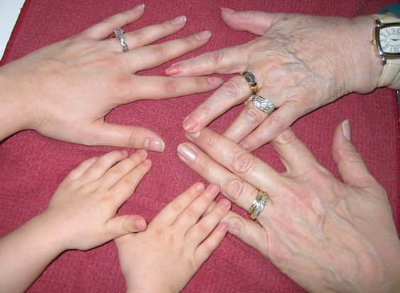 Four generations, hearts entwined