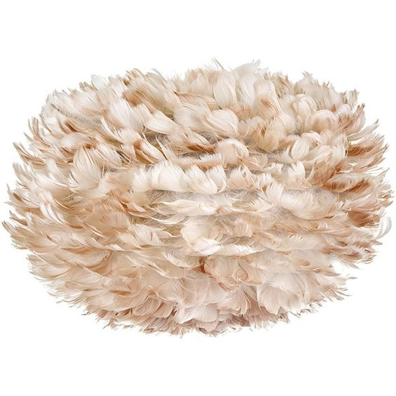 Vita Lighting Modern Eos Light Brown Goose-Feather Pom Pom Pendant... (¥16,880) ❤ liked on Polyvore featuring home, lighting, ceiling lights, lamps, modern pendant lighting, modern lamps, modern lighting, bird lamp and bird lights