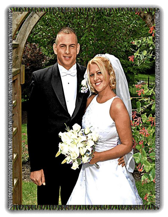 Wedding Woven Tapestry from a Photo. Call Connie at 864.659.0654