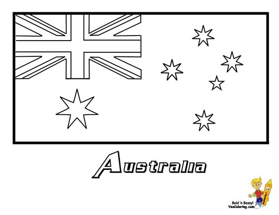 Australia flag coloring page you have all 195 for Flag of australia coloring page