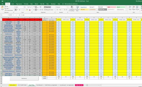 Pin By Nick Weisenberger On Excel In 2021 Spreadsheet Template Draft Games Free Excel Templates