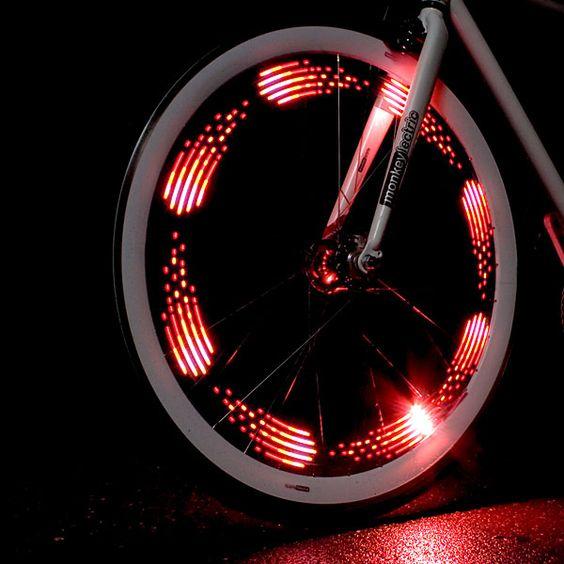 8-Bit Bike Wheel Light