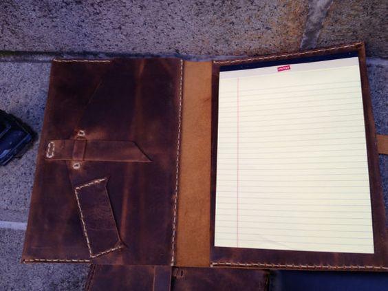 Handmade IPad Padfolio Custom Rugged Leather