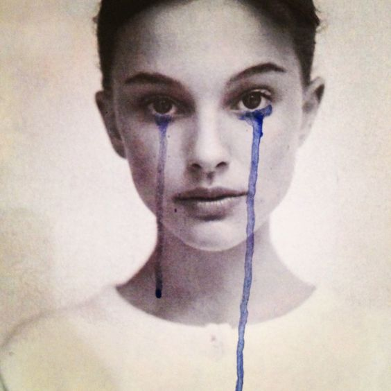 Natalie Portman crying collage by unknown artist
