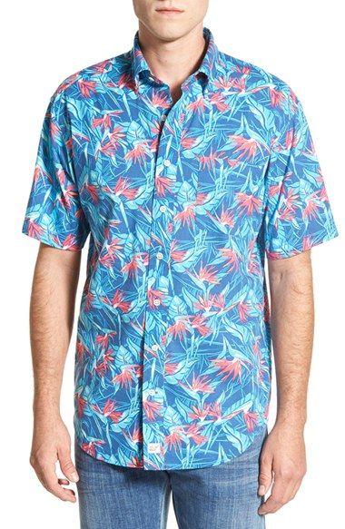 Vineyard Vines 'Birds of Paradise - Murray' Classic Fit Sport Shirt