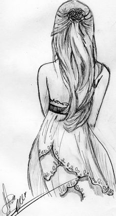 drawing of a girl in a dress tumblr - Google Search   paintings or ...