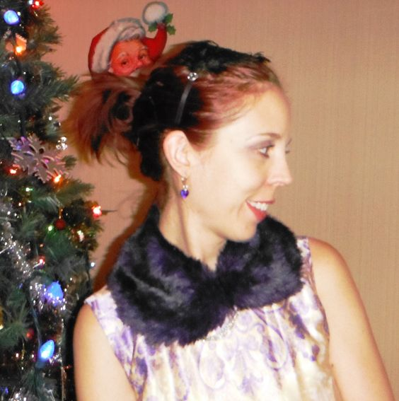 This purple faux fur collar from @Forever 21 is fabulous! Read more: http://www.thepurplescarf.ca/2013/12/Fashion-Style.Dress-Collar-Purple.Toronto-Canada.html #fashion #style