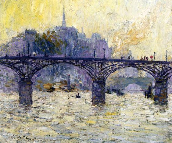 Kees Van Dongen, Paris, Le Pont des Arts <3bridgeskylines: