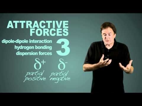 This video describes major intermolecular forces discussed in chapter 11. Dipole-dipole forces increase in strength with increasing polarity. London dispersion forces increase in strength with increasing molecular weight. Hydrogen bonding occurs in compounds containing O-H, N-H, and F-H bonds. Hydrogen bonds are generally stronger than dipole-dipole and dispersion forces. This video clearly summarized and clarified my knowledge of intermolecular forces.