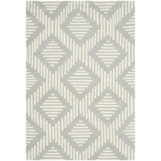 Safavieh Handmade Moroccan Chatham Collection Gray/ Ivory Wool Rug (4' x 6') - $119.69