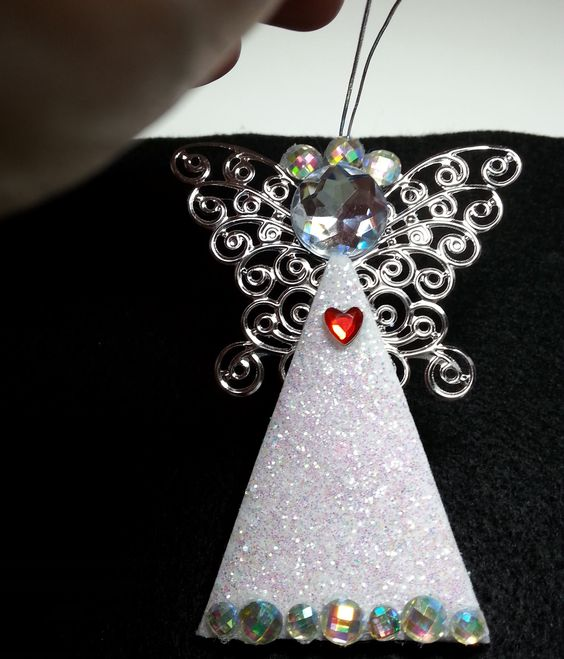 Diy easy and gorgeous personalized angel ornaments for Craft angels to make