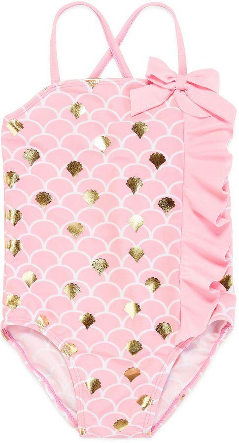 INTERNATIONAL ASSORTED BRANDS Sol Swim Foil Mermaid 1-pc. Swimsuit - Toddler Girls 2t-4t