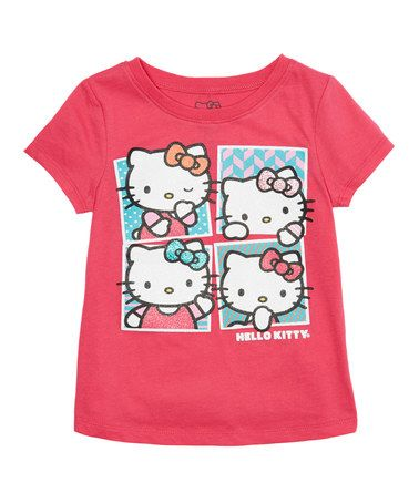Another great find on #zulily! Pink Hello Kitty Photo Booth Tee - Girls #zulilyfinds