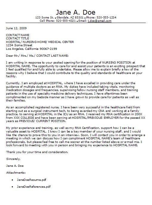 Cover Letter For Cna letter Pinterest - cover letter for cna