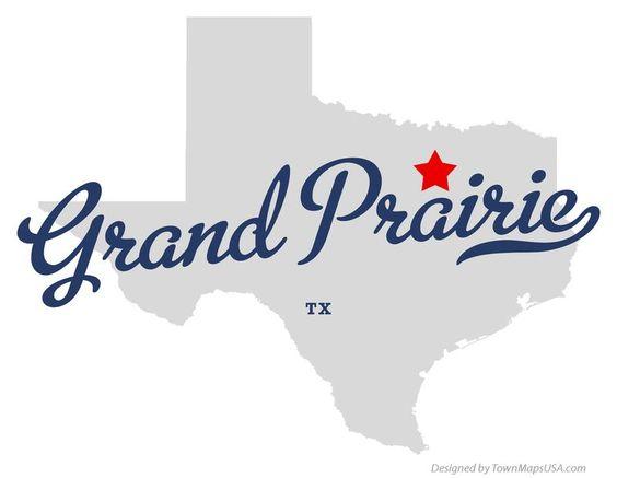 Map of Grand Prairie Texas TX