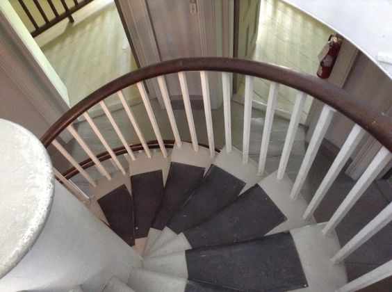 Spiral staircase at Goderich gaol