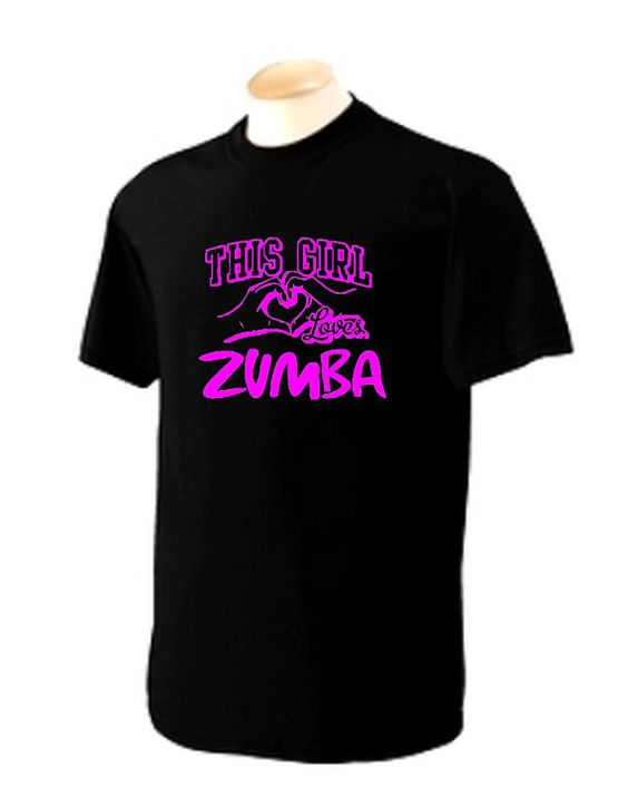 3XL Black Unisex fit  This Girl loves ZUMBA  by pinkboxstudio, $25.00