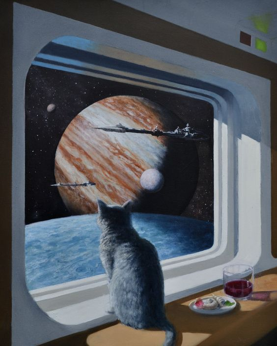 Concept Art Writing Prompt: A Cat's Eye View of a Spaceship