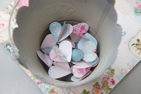 NEW Paper Garland Escape to the COUNTRY Heart Garland by LaMiaCasa, $12.00