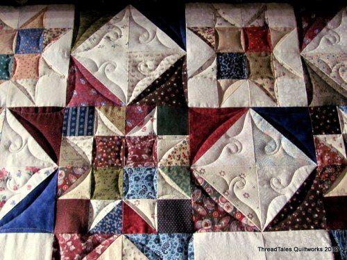 Light custom quilting on client quilt...