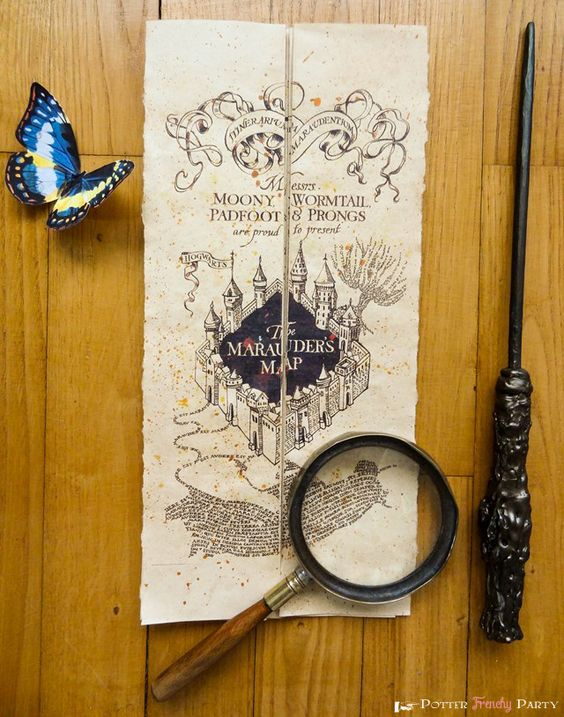 Potter Frenchy Party - Une fête chez Harry Potter: Travaux pratiques : la carte du maraudeur [grand format]: