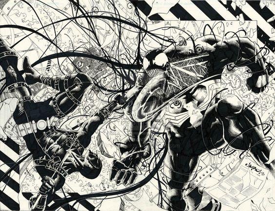 Deadpool vs Venom by Jimbo02Salgado