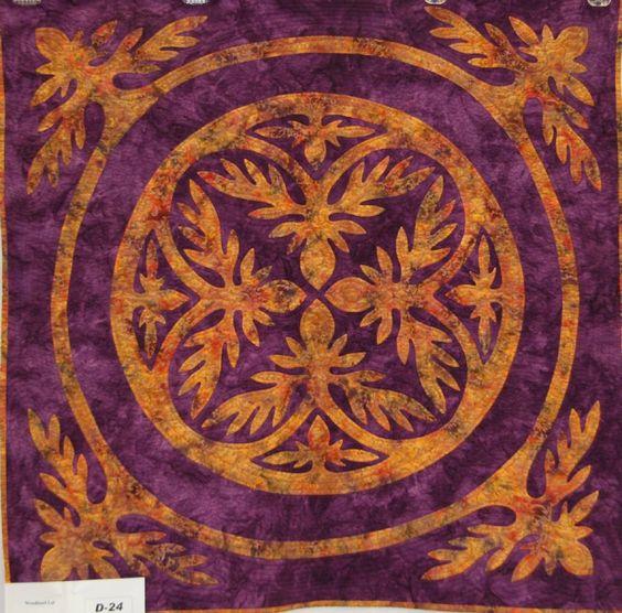 Batik Hawaiian quilt, Black Hills Quilters guild