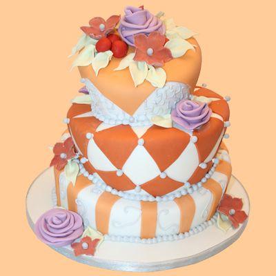 Wedding cake by Kathy Dvorski Cakes