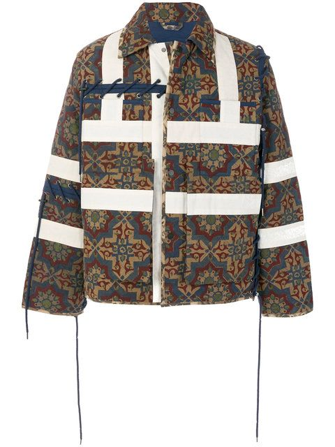 Shop Craig Green Tile Print Quilted Jacket In 2020 Green Outerwear Quilted Jacket Craig Green