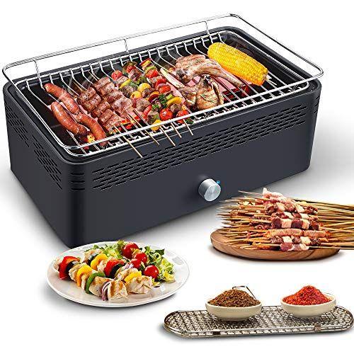 Tavolo Da Giardino Con Barbecue.Barbecue Senza Fumo Aobosi Barbecue Tavolo Barbecue A Carbone