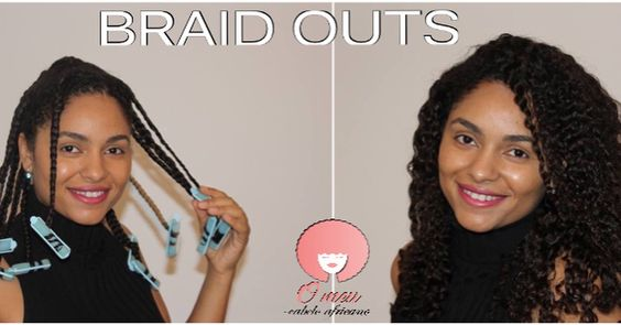 BRAID OUT BRAID OUT on Relaxed hair. Cabelo desfrisado texturizado. Caracóis. Cabelo encaracolado