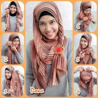 Cara memakai Jilbab Modern dan Gambar