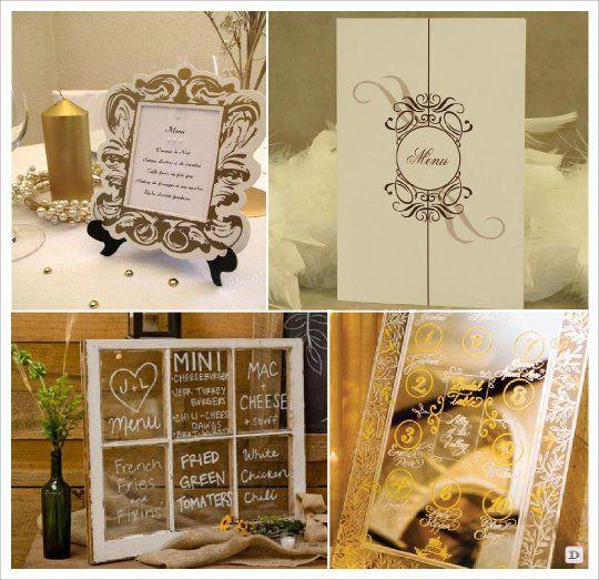 Menu mariage baroque cadre chevalet fenetre miroir for Miroir chevalet