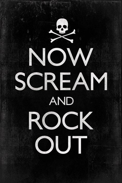 scream and rock out