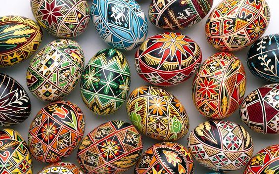 Lots of great Ukrainian egg designs here.
