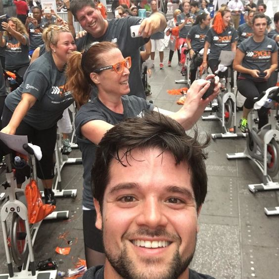 #sweatyselfie #timessquaretakeover #cycleforsurvival by josephrichman